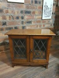 Antique Oak Edwardian Table Top Cabinet Collectors Cabinet Smokers Cabinet