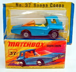 Matchbox Superfast 37b Soopa Coopa Met. Blue Very Rare Silver Painted Base