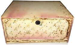 Vintage Rustic Farm House Pink And White Stars Bread Box