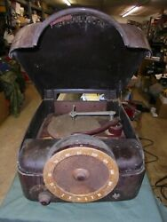 Antique Zenith Radio And Record Player Chassis 6h02 For Parts Only