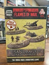 Sandbags Dug-in Markers - Battlefront - Flames Of War - Wwii - 15mm - New