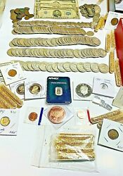 Vintage Sale Silver Us Auction Coin Lot. Proofs Wheats 90 Silver. 32 Coins