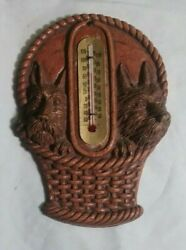 Ornawood Scottish Terrier Dog Wall Plaque Thermometer 6quot; Tall