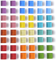 48 Pack Glass Refrigerator Magnets For Fridge Cute Magnets Color Decorative M...