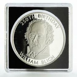 Somalia 250 Shillings 250th Birthday Of William Bligh Proof Silver Coin 2004
