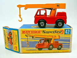 Matchbox Superfast No. 42a Iron Fairy Crane Red And Yellow Rare Rw Colours