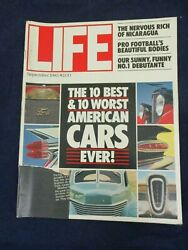 Vintage Life Magazine September 1983 The 10 Best And Worst American Cars Ever