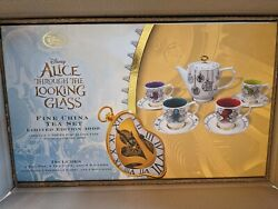 New Sealed Disney Alice In Wonderland Tea Set Alice Through The Looking Glass Le