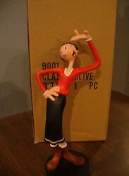 Extremely Rare Popeye Olive Showing Off Figurine Statue