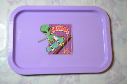 Custom Backwoods Alien Tobacco Resin Made Rolling Tray - Large Size 13.5andrsquoandrsquo X 9andrsquoandrsquo