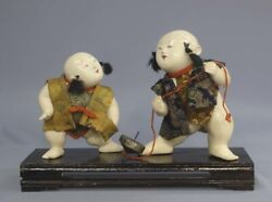Japan Antique Edo Gosho Doll Brothers Top Play Used