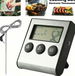 Pro Thermo Digital Meat Cooking Thermometer Timer Alarm For Bbq Food Oven Grill