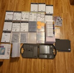 Barely Used Huge Lot Of Stampin Up Ink Markers Blocks And Stamps Set