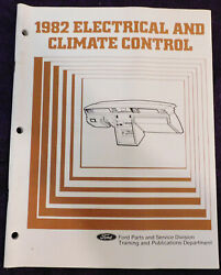 1982 Ford Mercury Lincoln Electrical And Climate Control Dealer Training Book
