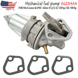 Mechanical Fuel Pump For Mercruiser And Omc Inline 4 Cyl 2.5l 120 Hp 3.0l 140 Hp