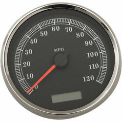 Stock Repl. 5 Electronic Speedometer Black Face/120mph 2004-13 Harley Models