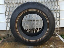 Vintage Nos Super Shell Hp40 Tire White Wal Polyester Cord Gas Station Brand