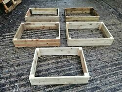 No Assembly 100cm X 70cm X 20cm Reclaimed Timber Raised Flower / Vegetable Bed