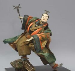 Japan Antique Edo Late Takeda Doll Height 40cm Cracked Used