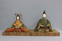 Japan Antique Edo Late Large Old And Modern Hina Dirt Yes Used