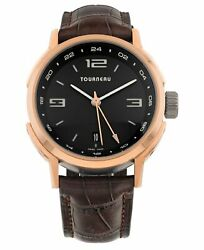 Tourneau Tny Series Gmt 18k Rose Gold Automatic 40mm Menand039s Watch Tny400405005