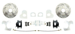 1982-92 Chevy S-10 Black Caliper And Drilled Rotor Rear Disc Brake Conversion Kit