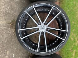 20and039 Savini Rims Offset With 22and039 Back Rims With Pirelli Tires