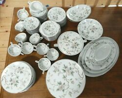 Chatham Noritake China Dinnerware Flower Discontinued Pattern Euc 100 Pices
