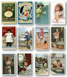 Vintage Beauty Bar Soap Ads 8x10 Prints Collector's Set Of 12