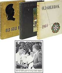 Bill Clinton / High School Yearbook Old Gold Book First Edition 1964