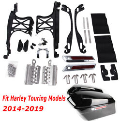 One Touch Opening Saddlebag Latch Lids Hardware Kit Fit For Harley Touring 14-up