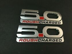 2015-2020 Mustang Gt Billet Coyote 5.0 Emblems Roush Charged Badge - 2pcs