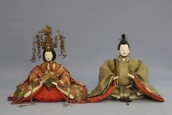 Japan Antique Edo Era Late Old And Modern Chicks With Wooden Box Defective Used