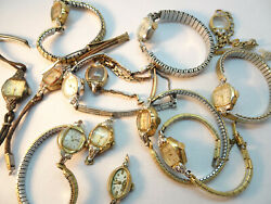 Bulova Diamond Accent Ladies Watches For Vintage Restoration Or Parts