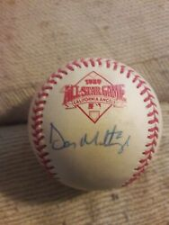 Don Mattingly Signed 1989 Official All Star Game Baseball Ironclad Holo Coa
