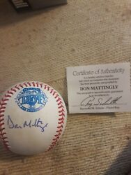 Don Mattingly Signed 1984 Official All Star Game Baseball Ray Schulte Coa