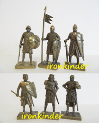 Knights Part 1 Bronze Metal Toy Collection Soldier 40mm