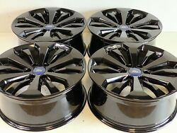 20 20 Inch Oem Factory Ford Fit F-150 King Ranch Gloss Black Wheels Rims 4