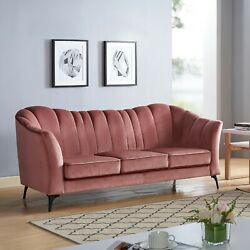 Living Room Furniture Cushion Sofa And Loveseat Contemporary Vintage Rose 2pc Sofa