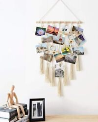 Macrame Woven Bohemian Wall Hanging Tapestry Tassel Photos Art Room Decor Gift
