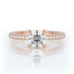 Real Diamond Engagement Hidden Halo Ring F/si1 2.25 Ct Round 14k Rose Gold