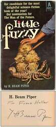 H Beam Piper / Little Fuzzy Signed 1st Edition 1962