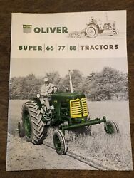 Oliver 66 77 88 Standard Tractor Brochure Excellent Condition