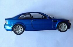2000 Bmw M3 Coupe Metallic Blue Diecast Toy Car 1/24 Model Ss7729