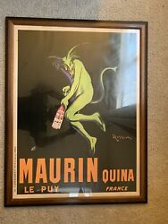 Framed Vintage Poster Cappiello Mardi Gras New Orleans Maurin Quina