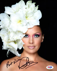 Vanessa Williams Signed Autographed 8x10 Photo Miss America Very Pretty Psa/dna