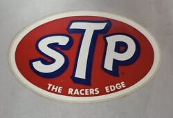 Vintage Stp Automotive Racing Decal Sticker The Racers Edge New And Unpeeled