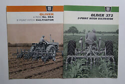 2 Different Oliver No. 364 And 372 3 Point Hitch Cultivator Brochures