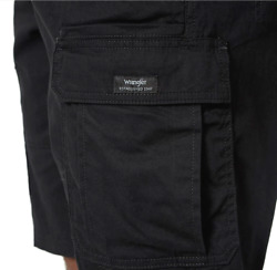 Menand039s Wrangler Cargo Shorts W/ Flex Relaxed Fit Tech Pocket All Sizes 34 - 54