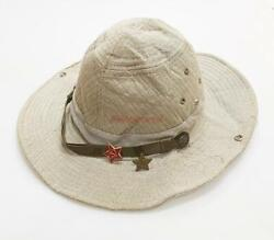 Russian Panama Afghanka Gray Military Soviet Red Army Ussr Soldier Hat Uniform